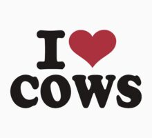 I love cows Kids Tee