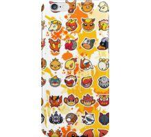 Pokemon - Fire invasion (White background) iPhone Case/Skin