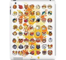 Pokemon - Fire invasion (White background) iPad Case/Skin