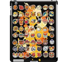 Pokemon - Fire invasion (Black background) iPad Case/Skin