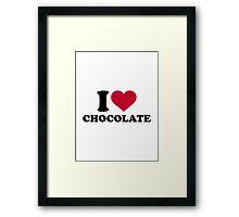 I love Chocolate Framed Print