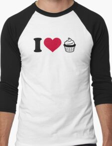 I love Cupcakes Men's Baseball ¾ T-Shirt