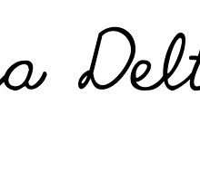Alpha Delta Pi Girly Script by juststickit