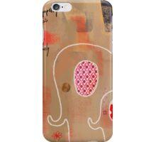 Shy Elephants Print iPhone Case/Skin