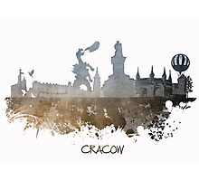 Cracow Poland skyline Photographic Print