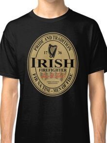 Irish Firefighter - oval label Classic T-Shirt