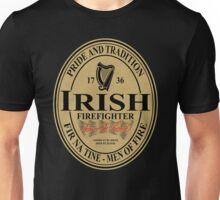 Irish Firefighter - oval label Unisex T-Shirt