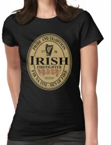 Irish Firefighter - oval label Womens Fitted T-Shirt