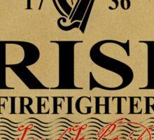 Irish Firefighter - oval label Sticker