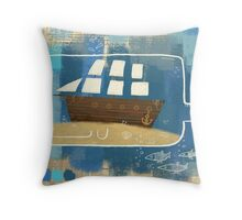 The Ocean Is My Home Throw Pillow