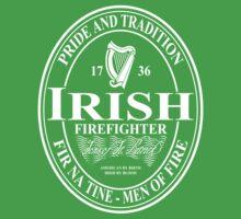 Irish Firefighter - oval Kids Tee