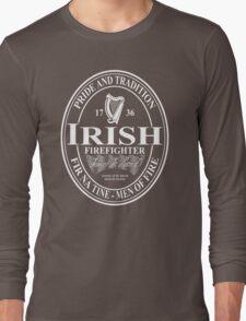 Irish Firefighter - oval Long Sleeve T-Shirt
