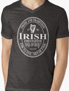 Irish Firefighter - oval Mens V-Neck T-Shirt