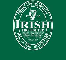 Irish Firefighter - oval Unisex T-Shirt