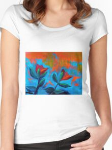 Dancing Tulips Women's Fitted Scoop T-Shirt
