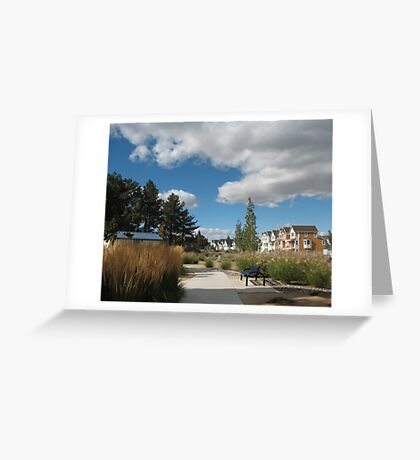 A Neighborhood Walk Greeting Card