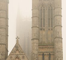 towers in the mist by jayview