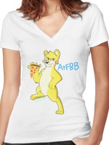 Tangle The Bear Women's Fitted V-Neck T-Shirt