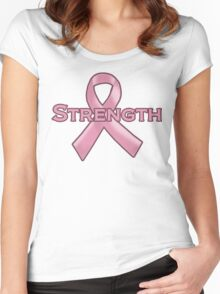 Pink Ribbon Strength Women's Fitted Scoop T-Shirt