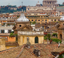 Messy, Fascinating and Wonderful - the Roofs of Rome Sticker