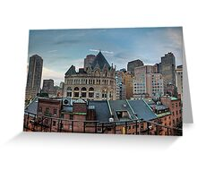Boston from my hotel room Greeting Card