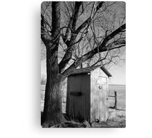 Kansas Country Outhouse Canvas Print
