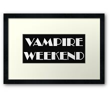 VAMPIRE WEEKEND Framed Print