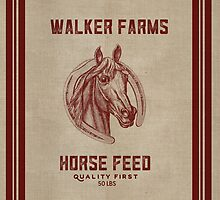 Walker Farms Horse Feed Vintage Sack by marceejean