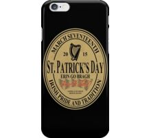 St. Patrick's Day - oval label iPhone Case/Skin
