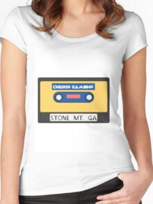 Childish Gambino Stone Mt. Cassette  Women's Fitted Scoop T-Shirt