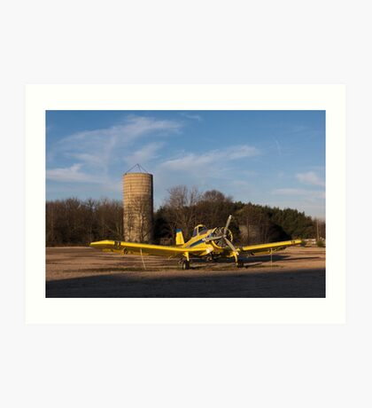 Yellow Crop Duster Art Print