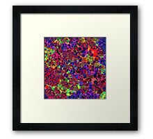 Abstract - multi-coloured Framed Print
