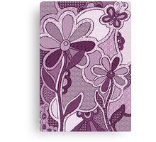 Funky Flowers Canvas Print