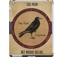Old Crow Egg Mash Vintage Feed Sack iPad Case/Skin