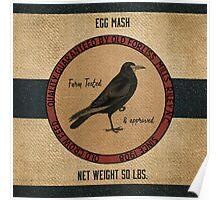Old Crow Egg Mash Vintage Feed Sack Poster