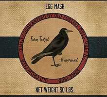 Old Crow Egg Mash Vintage Feed Sack by marceejean