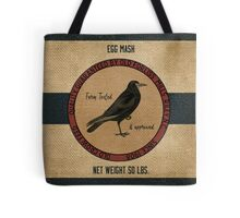 Old Crow Egg Mash Vintage Feed Sack Tote Bag