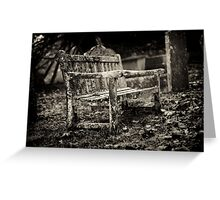 Cemetery Seating Greeting Card