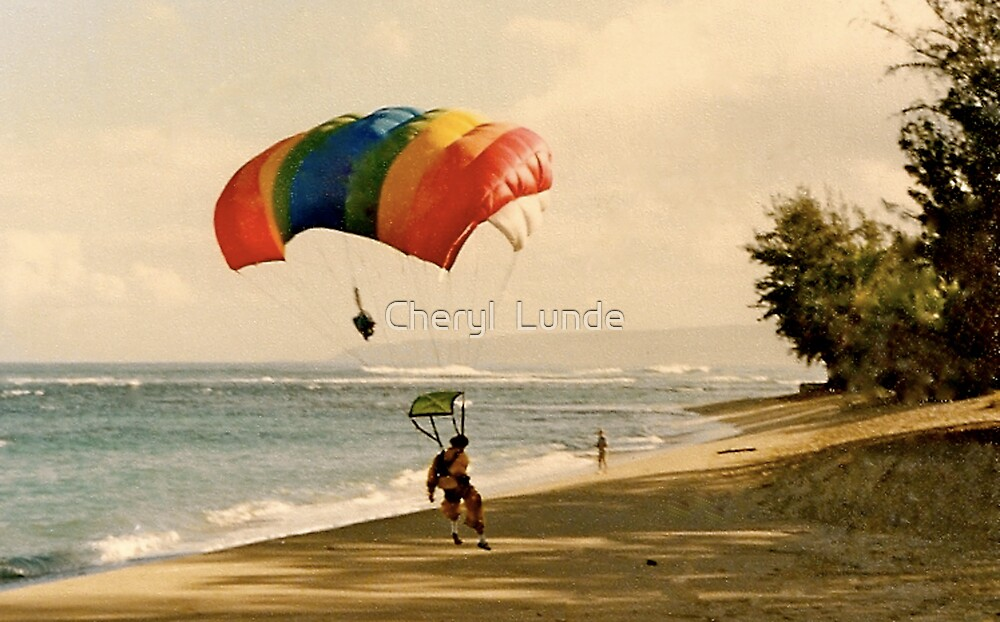 Beach Landing by Cheryl  Lunde