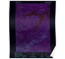 Maine USGS Historical Map Canada Falls Lake 104994 1989 24000 Inversion Poster