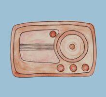 Vintage Radio One Piece - Short Sleeve