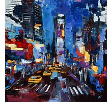 Saturday night in Times Square Photographic Print