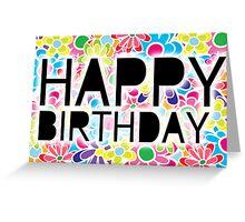birthday flower Greeting Card