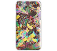 Healthy crystals: Malic acid under the microscope iPhone Case/Skin