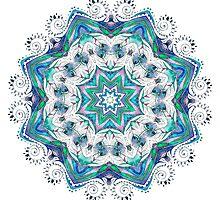 Beautiful card with mandala by anvino