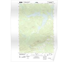 Maine USGS Historical Map Canada Falls Lake 20110910 TM Poster