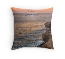 Sailing to the dusk Throw Pillow