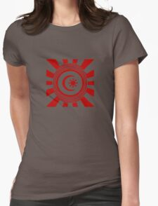 Mandala 34 Colour Me Red Womens Fitted T-Shirt