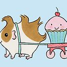 Guinea-pig with Cherry Cupcake by zoel