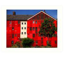 Just knock on the red door.. Art Print